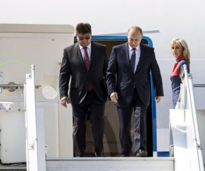 Russian president Vladmir Putin arrives in Helsinki for summit with US counterpart Donald Trump