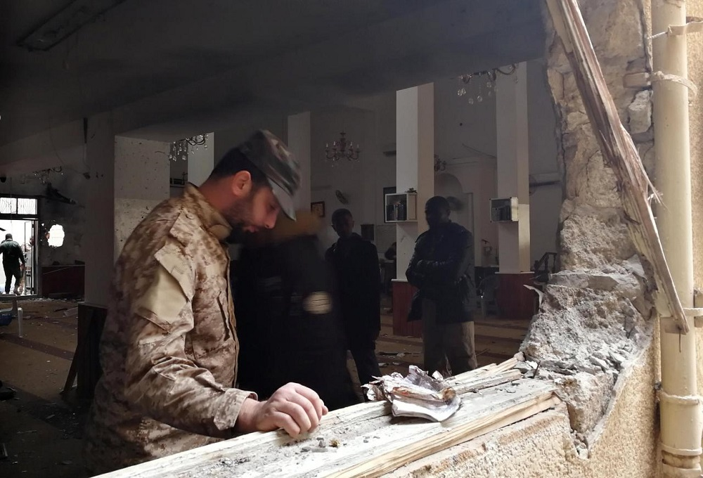 Bombing at Libyan mosque kills two, wounds 55