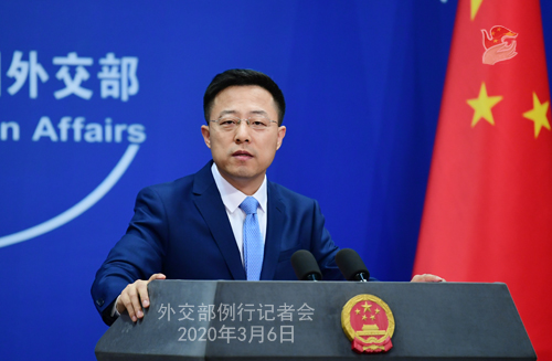 China declines comment on spokesman's claim of U.S.  role in coronavirus outbreak