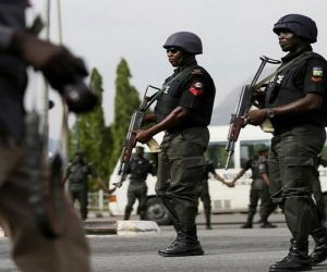 Attempted bank robbery folied by police in Ile-Ife, Osun State.
