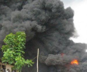 Oil Wells on fire in Ondo