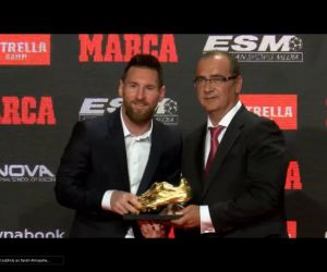 Messi receives his 6th European Golden boot