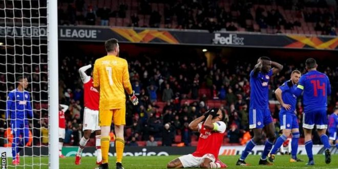Europa League : Mikel Arteta blames Arsenal player as gunners lose to Olympiakos
